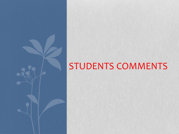 students comments n.