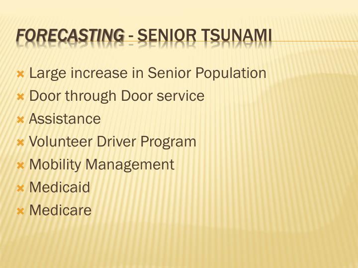 Large increase in Senior Population
