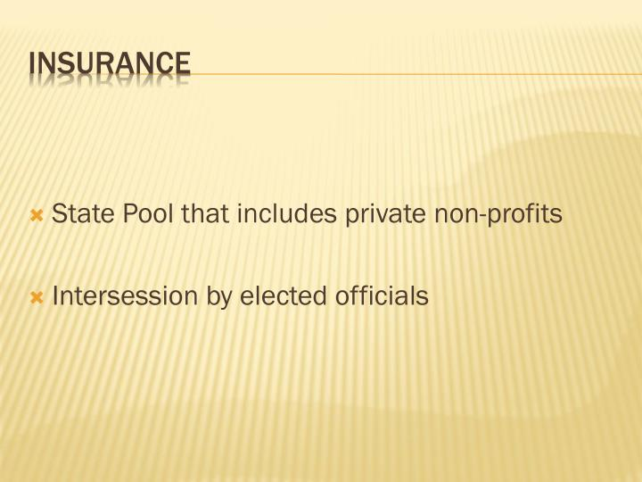 State Pool that includes private non-profits