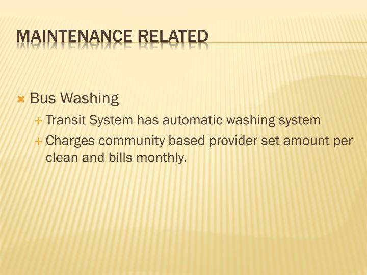 Bus Washing