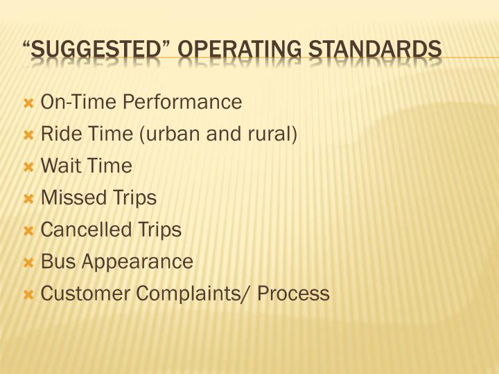 On-Time Performance