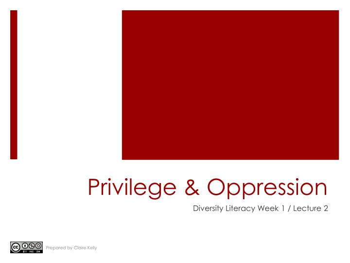 """prividlge power and opresion essay Gender and privilege/oppression white privilege essay """"white privilege and male privilege"""" by peggy mcintosh """"domination and subordination"""" by j - gender and privilege/oppression white privilege essay introduction b."""