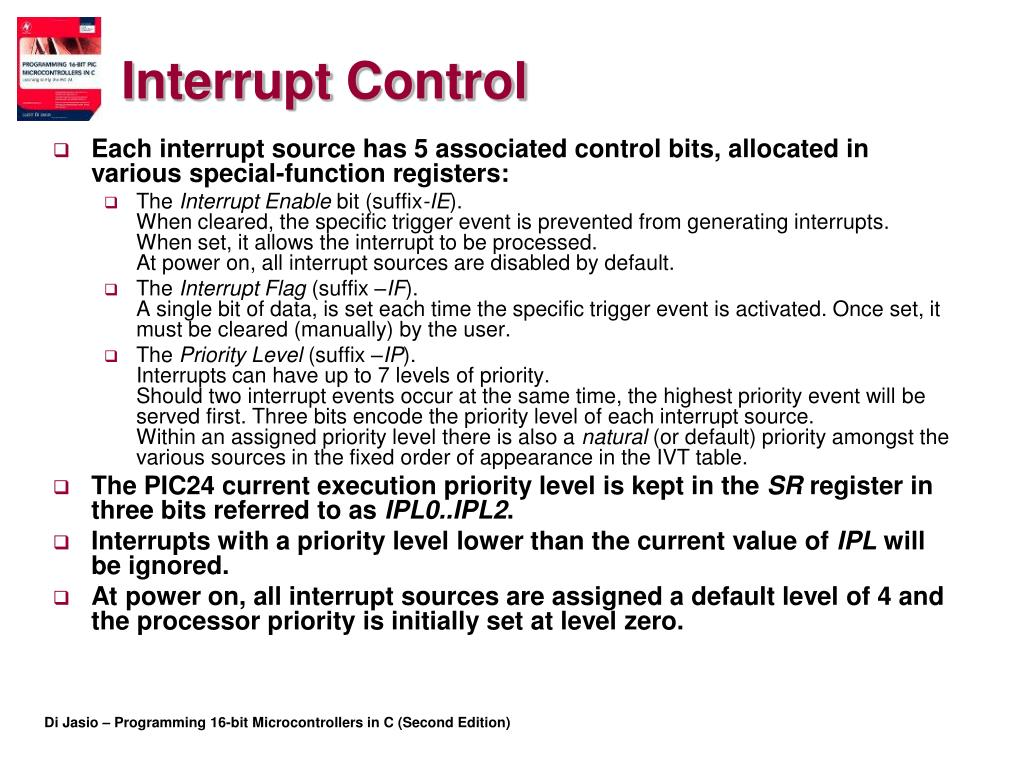 PPT - Chapter 5 Interrupts PowerPoint Presentation - ID:3727481