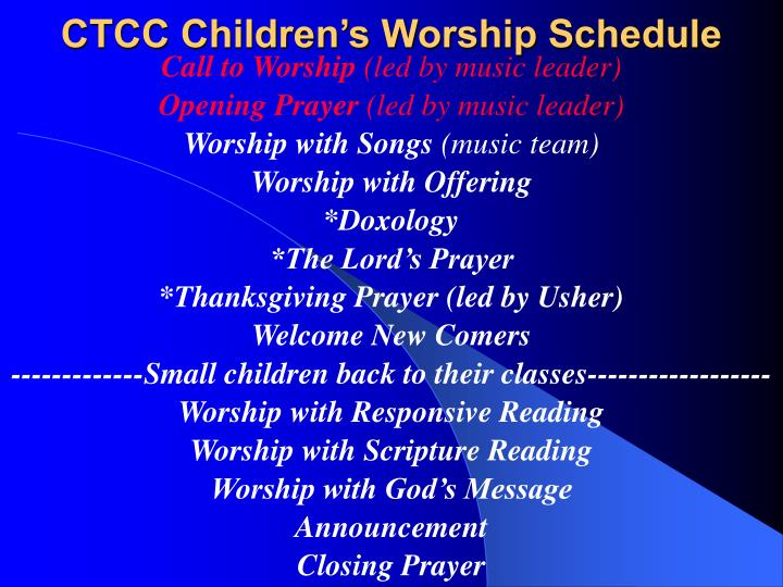 Ctcc children s worship schedule1