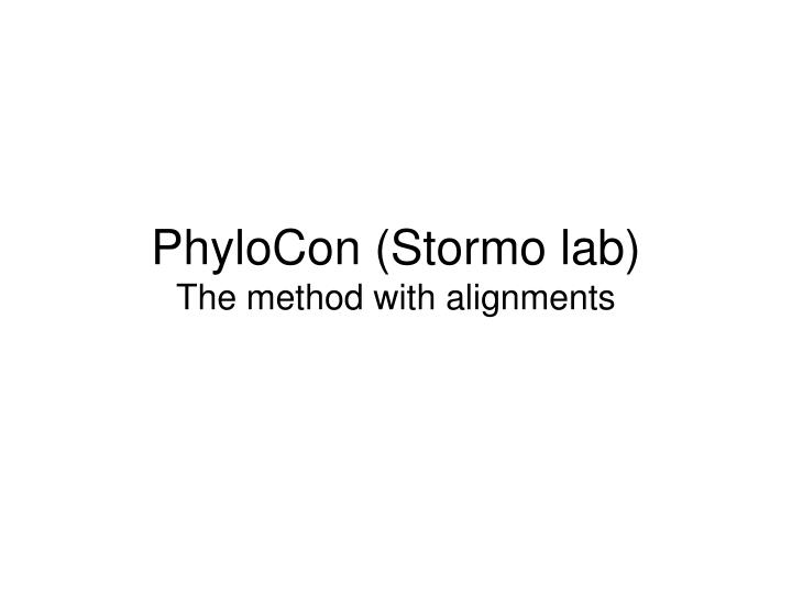 PhyloCon (Stormo lab)