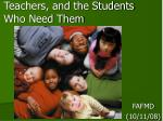 teachers and the students who need them