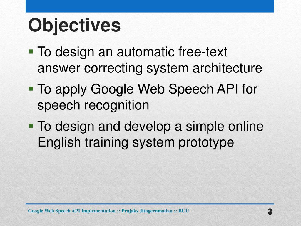 PPT - Google Web Speech API Implementation PowerPoint