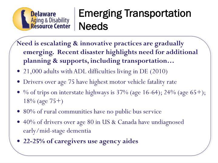 Emerging Transportation Needs