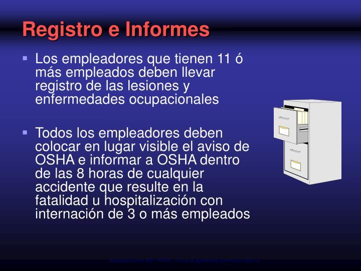 Registro e Informes