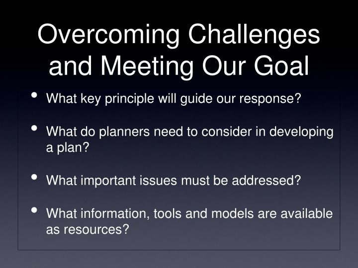 What key principle will guide our response?