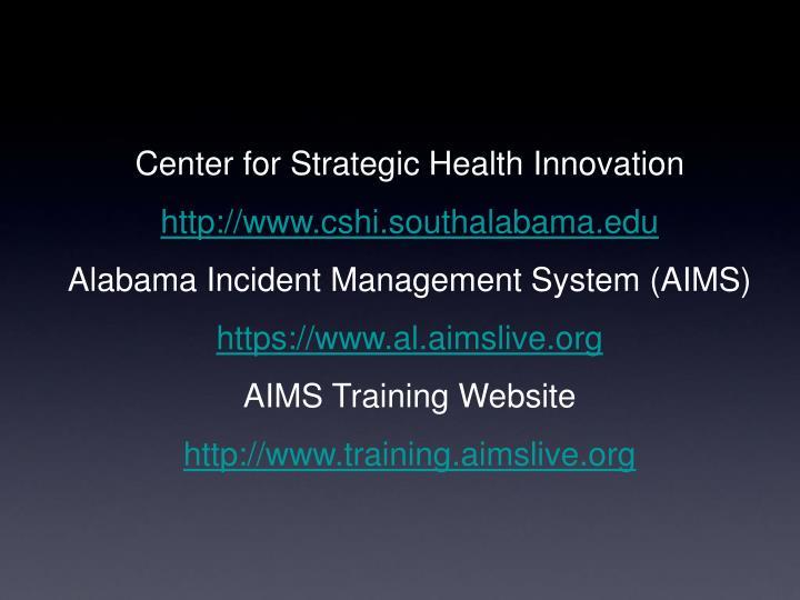 Center for Strategic Health Innovation