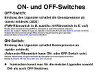 on und off switches