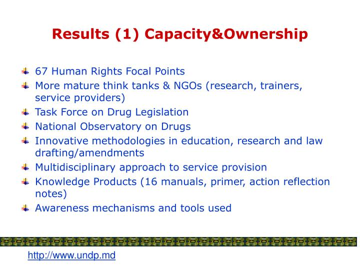 Results (1) Capacity&Ownership