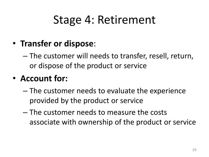 Stage 4: Retirement