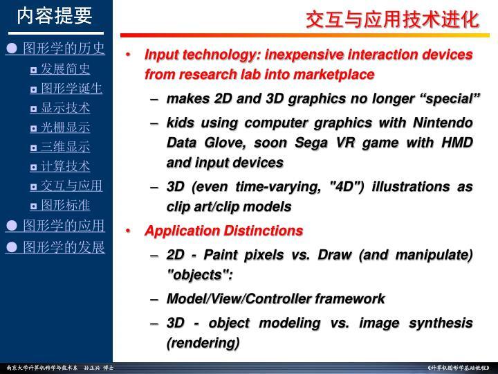 交互与应用技术进化