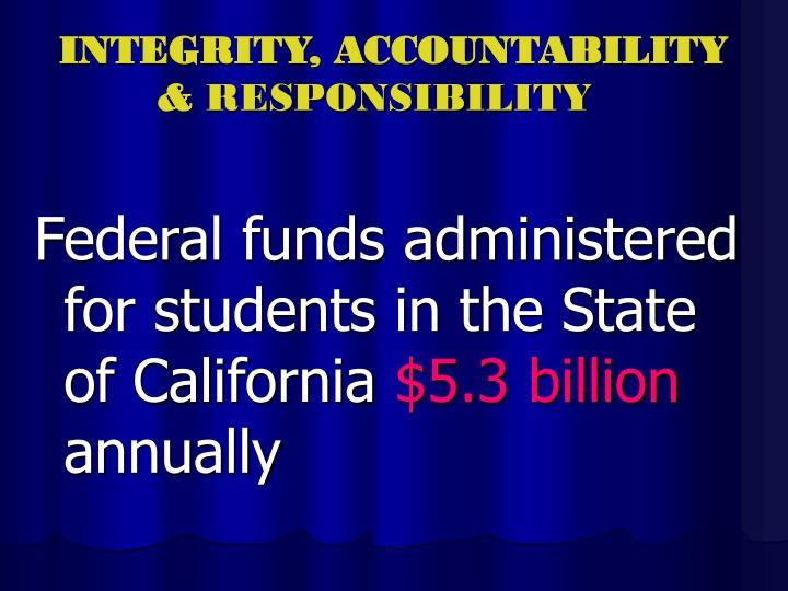 Integrity accountability responsibility