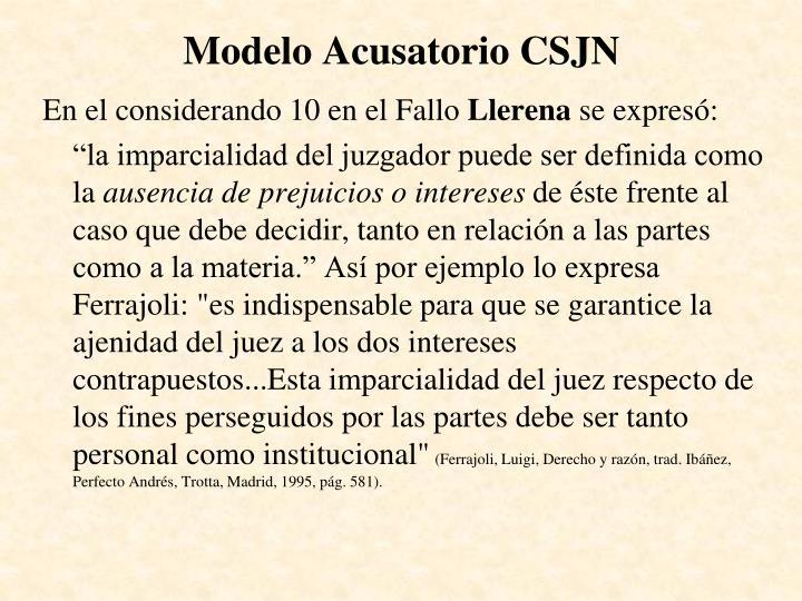 Modelo Acusatorio CSJN