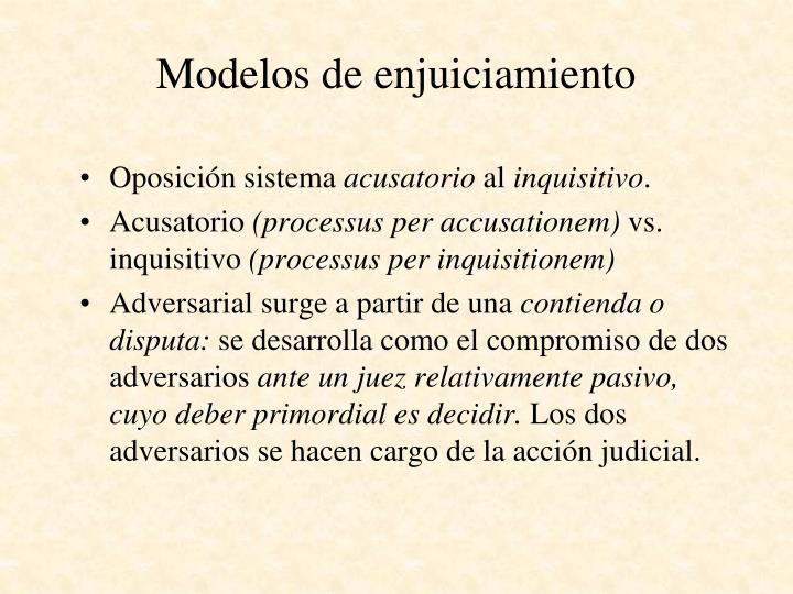 Modelos de enjuiciamiento