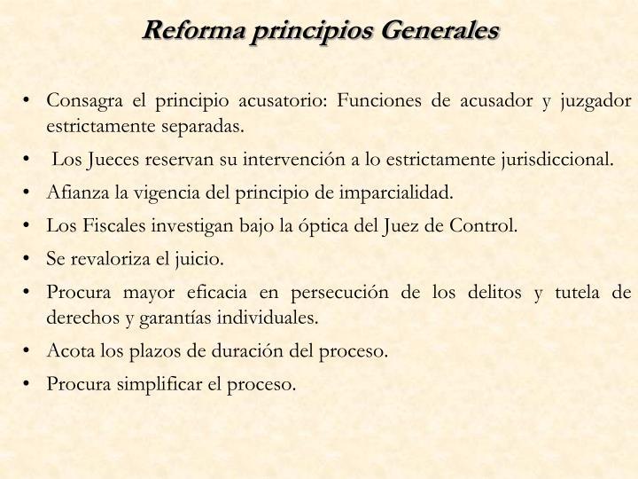 Reforma principios Generales
