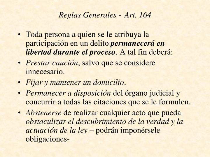 Reglas Generales -