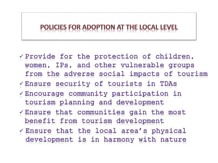 levels of tourism planning