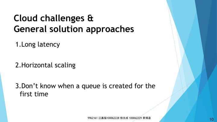 Cloud challenges &