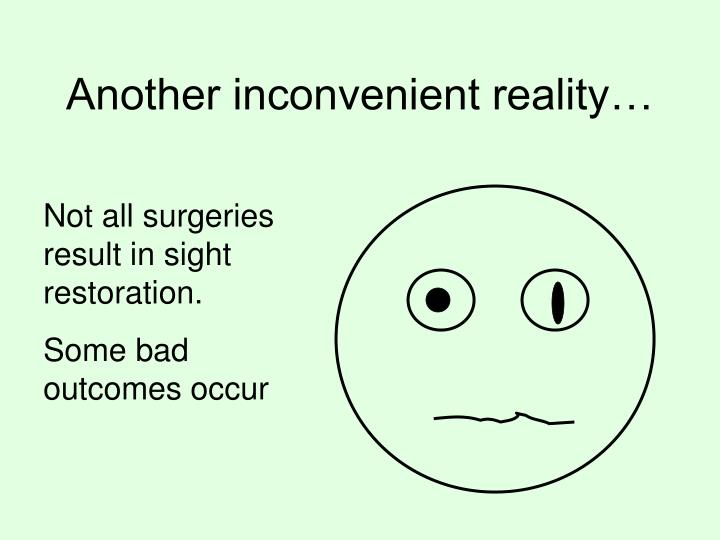 Another inconvenient reality…