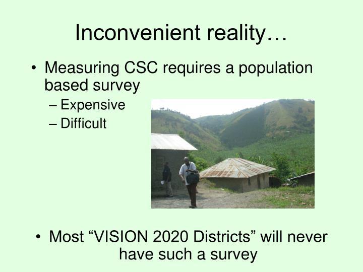 Inconvenient reality