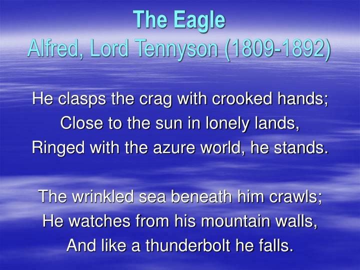The eagle alfred lord tennyson 1809 1892