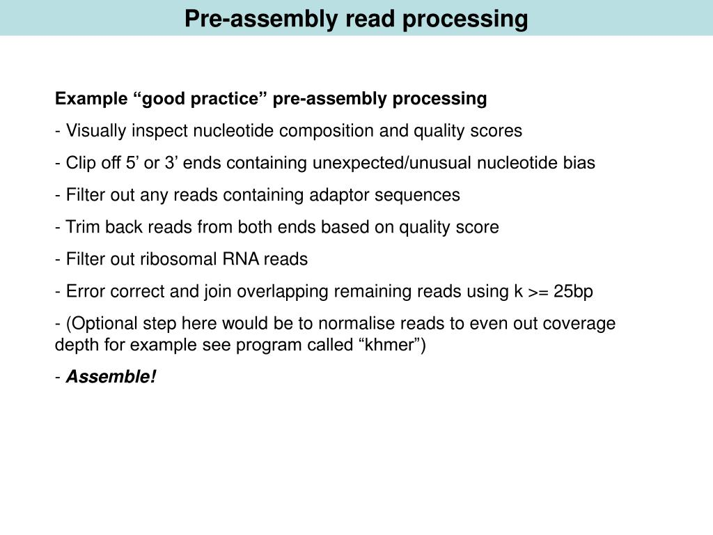PPT - De novo assembly of RNA PowerPoint Presentation - ID