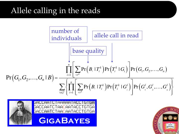 Allele calling in the reads