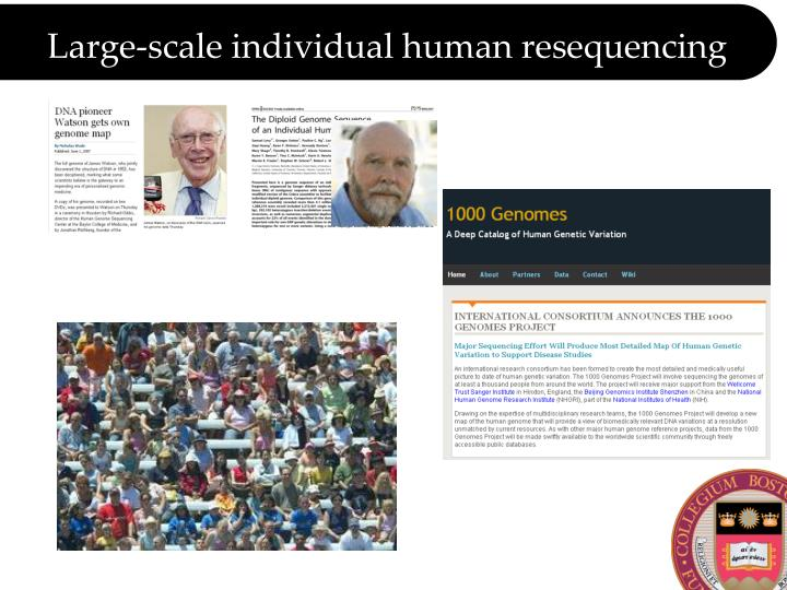 Large scale individual human resequencing