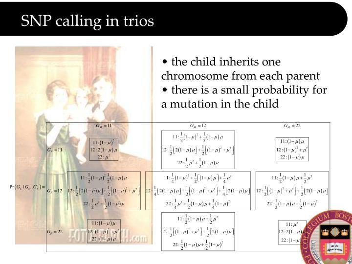 SNP calling in trios