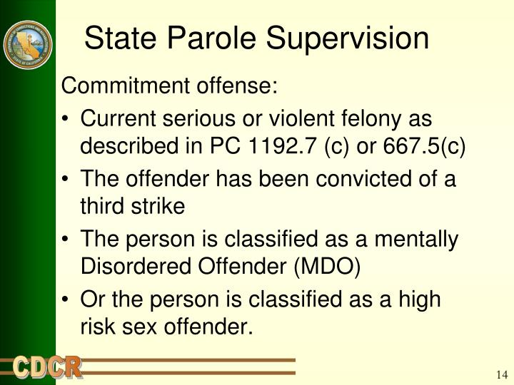 State Parole Supervision