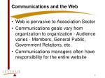 communications and the web