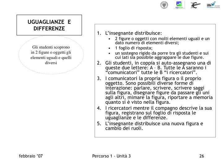 UGUAGLIANZE  E DIFFERENZE