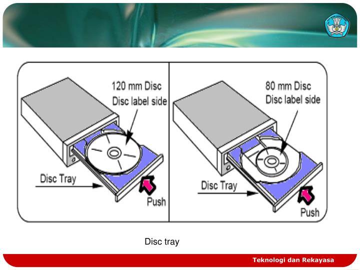 Disc tray