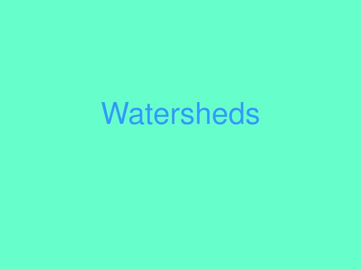 watersheds n.