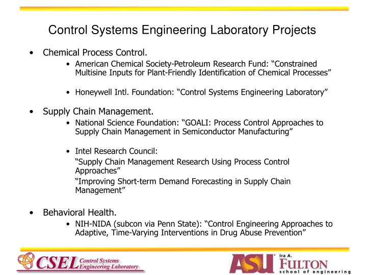 Control systems engineering laboratory projects