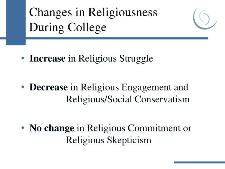 Changes in Religiousness