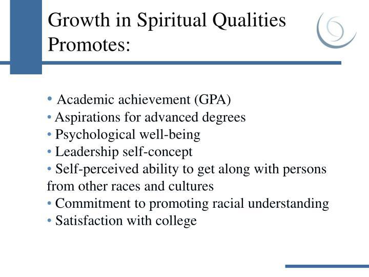 Growth in Spiritual Qualities