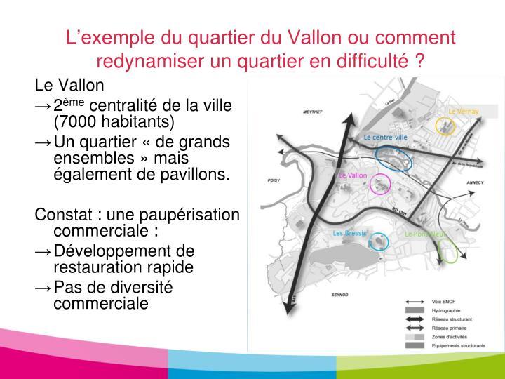 L'exemple du quartier du Vallon ou comment redynamiser un quartier en difficulté ?