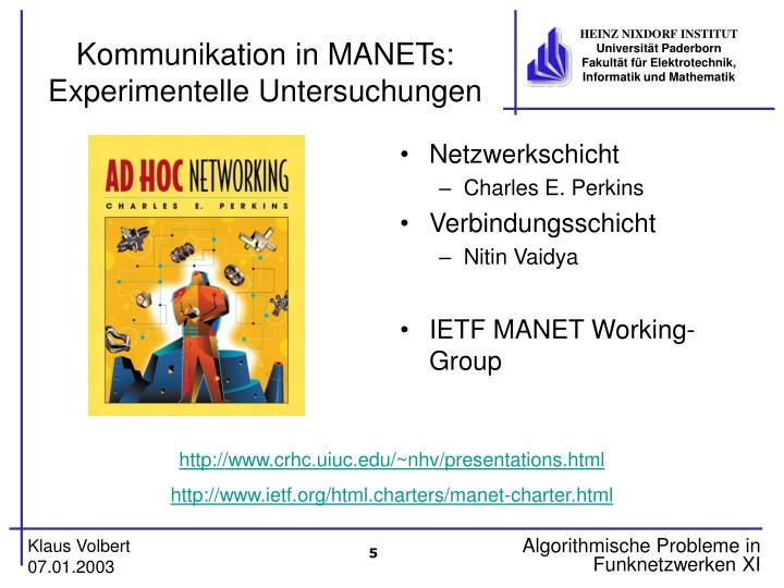 Kommunikation in MANETs: