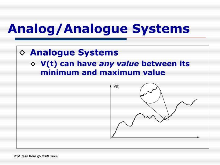 Analog/Analogue Systems