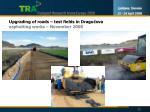 upgrading of roads test fields in dragu ova asphalting works november 2008
