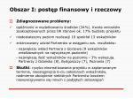 obszar i post p finansowy i rzeczowy