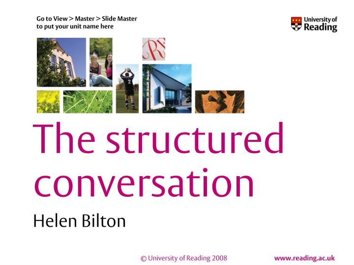 the structured conversation n.