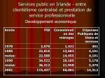 services public en irlande entre client lisme centralis et prestation de service professionnelle22