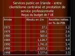 services public en irlande entre client lisme centralis et prestation de service professionnelle23