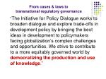 from cases laws to transnational regulatory governance7